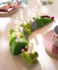 ein süßer Kerzenhalter der kleine Kinder begeistert